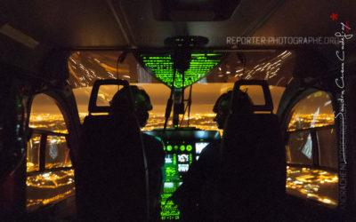 Patrouille aérienne de nuit d'un EC-145 du GCFAG