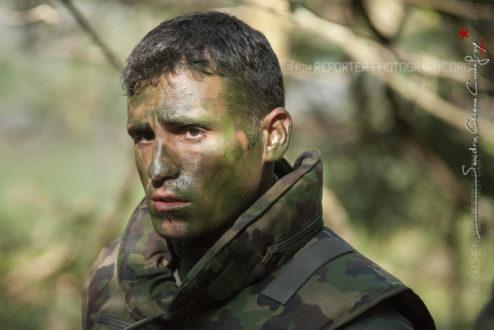 Portrait d'un policier du GIPN 69 lors du Swiss Raid Commando [Ref: 4209-01-1064]