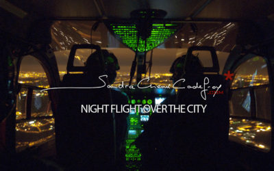 POM / Helicopter night flight over the city