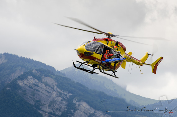 Hélicoptère Dragon 38 du Secours en montagne (Ref: 2311-07-0471) par Sandra Chenu Godefroy