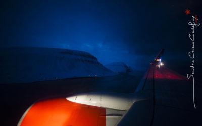 Boeing 737 en approche de Svalbard 78°N [Ref:3212-01-0279]