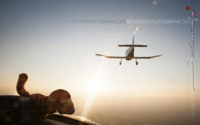 Tigrou vole en patrouille avec un Jodel DR 1050 [Ref:3311-17-0252]