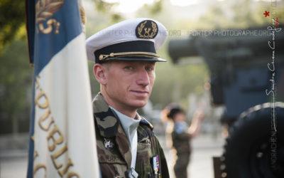 Porte-drapeau du Service des Essences des Armées [Ref:4013-09-0090]