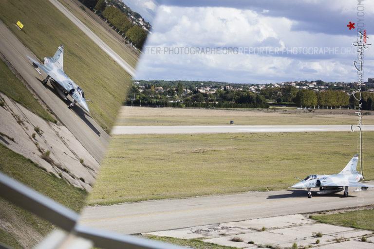 Mirage 2000 devant la tour de Salon de Provence [Ref:3512-15-0498]