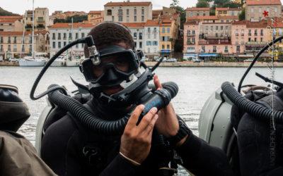 Plongeurs démineurs de l'US Navy lors de Cutaway 2016
