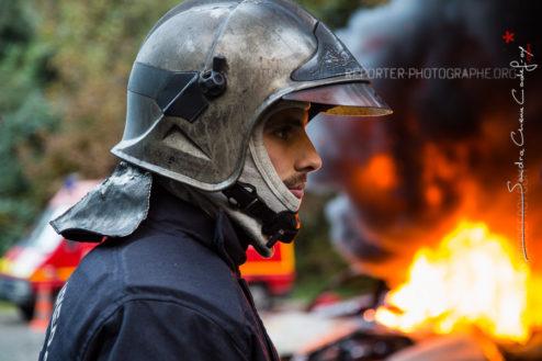 Portrait d'un stagiaire sapeur-pompier [Ref:2116-52-0306]