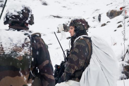 Chasseur alpin du 27eBCA dans la neige [Ref:4316-57-0676]