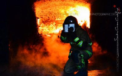 En reportage dans les flammes