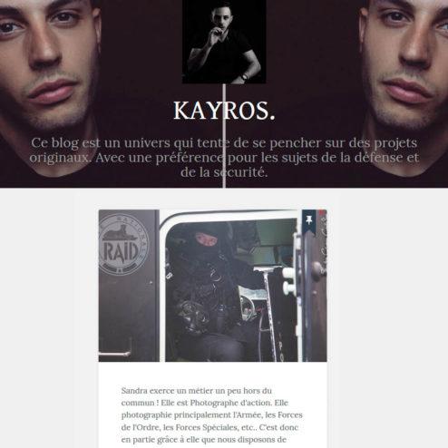 Une ITW de Sandra Chenu Godefroy sur le blog de Kayros