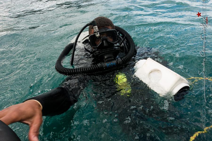 Plongeur démineur de l'US Navy [Ref:4316-14-0825]
