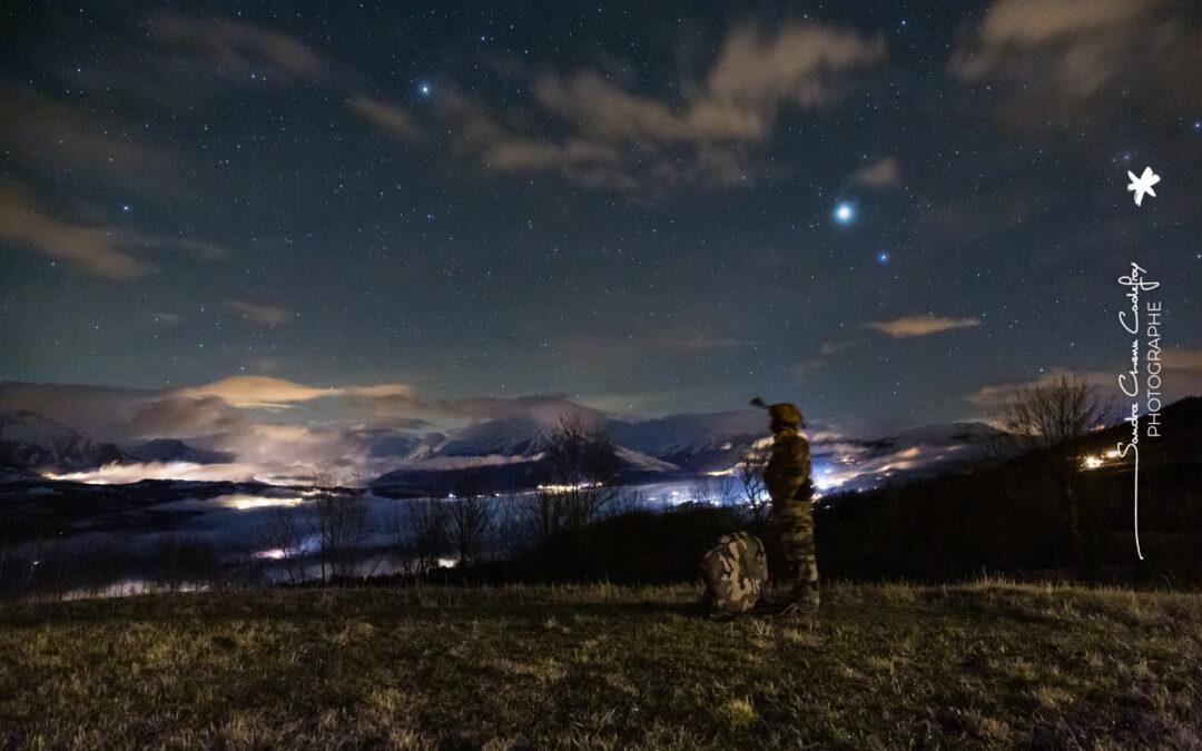 Candidat commando Montagne en attente de nuit