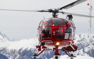L'Alouette 3 de la Sécurité Civile en Isère