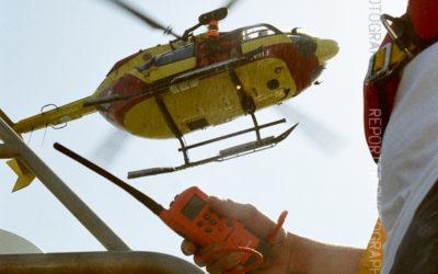 Hélitreuillage depuis un EC-145 de la Sécurité Civile sur une vedette SNSM