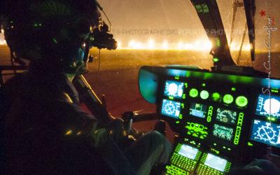 Vol de nuit d'un EC-145 par les Formations Aériennes de la Gendarmerie