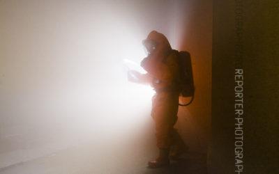 Stage Constox : en contrejour dans les fumées, au flash