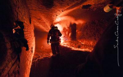 Mise à feu par des pompiers du Fort de Domont [Ref:2111-20-0263]