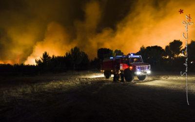 CCF sur le front de flammes de Carry [Ref:2410-13-0347]