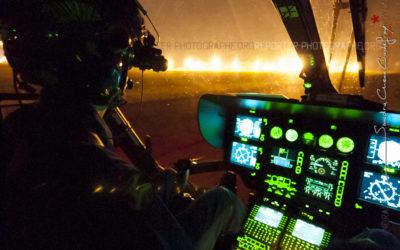 Posé de nuit d'un EC145 de la Gendarmerie [Ref:3108-30-0381]