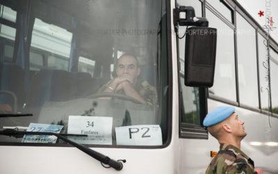 Militaires en attente lors du défilé du 14 juillet [Ref:4512-10-0164]