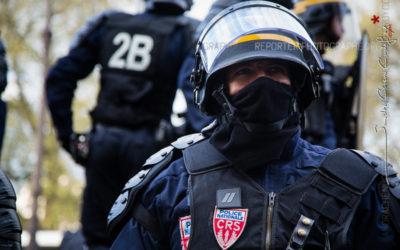 Forces de l'ordre lors de la manifestation anti Loi Travail