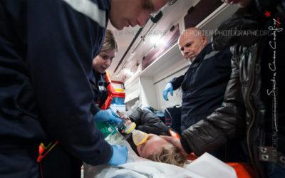 Fillette évacuée par les sapeurs-pompiers [Ref:2110-03-1424]
