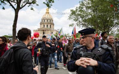 Forces de l'ordre lors de la manifestation du 17 mai