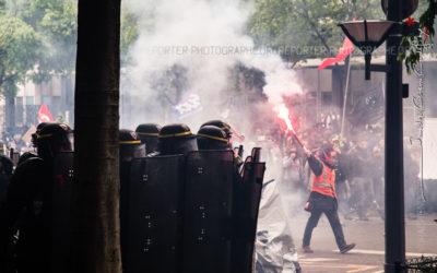 Maintien de l'ordre lors de la manifestation du 19 mai