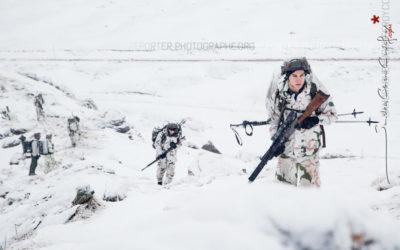 Des chasseurs alpins pendant l'exercice Cerces 2016